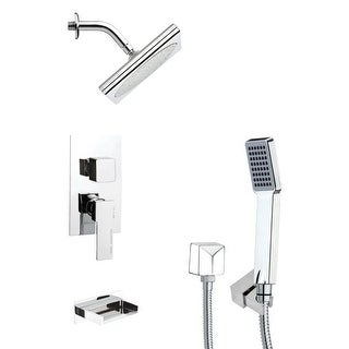 Nameeks TSH4194  Remer Shower Tub and Shower Trim Package with Single Function Rain Shower head and Hand Shower - Chrome