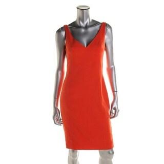 Jay Godfrey Womens Knit V-Neck Cocktail Dress - 6