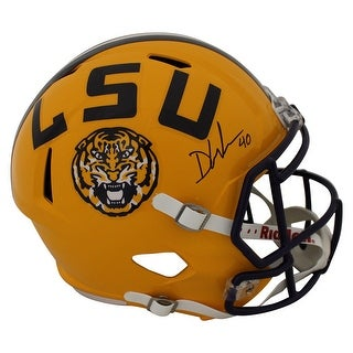 Devin White AutographedSigned LSU Tigers Speed Replica Helmet JSA