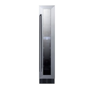 Summit SWC007 6 Inch Wide 7 Bottle Capacity Built-In Wine Cooler with Profession - glass / black - N/A