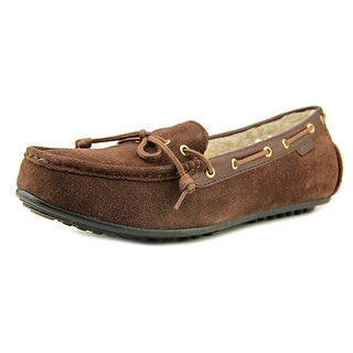 Cole Haan Grant Shearling Women Round Toe Suede Brown Loafer