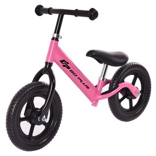 Goplus 12'' Balance Bike Classic Kids No-Pedal Learn To Ride Pre Bike w/ Adjustable Seat