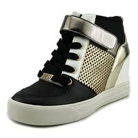 Guess Womens Diza Fabric Hight Top Lace Up Fashion Sneakers