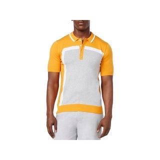 Sean John Mens Polo Sweater Colorblock Short Sleeve