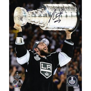 Alec Martinez Los Angeles Kings Holding 2014 Stanley Cup 8x10 Photo