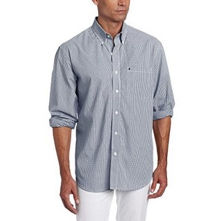 Izod Mens L/S Essential Check Buotton Down Woven Shirt