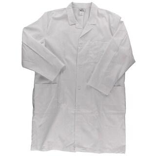 Meta Mens Lab Coat Long Sleeves Solid - 54L
