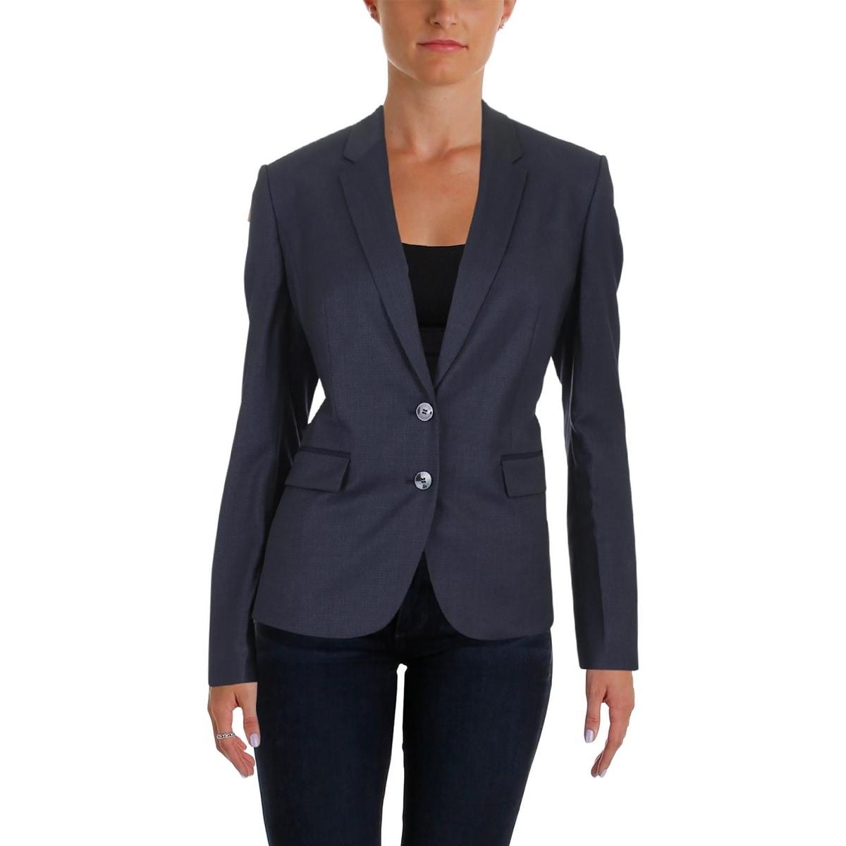 d1d6ae913 Shop BOSS Hugo Boss Womens Jylana Blazer Virgin Wool Contrast Piping - Free  Shipping Today - Overstock - 24076941