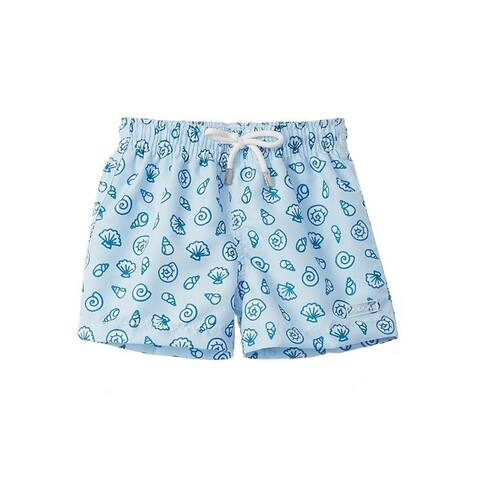 Azul Baby Boys Green Palm Spring Print Drawstring Tie Swimwear Shorts
