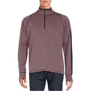Hawke and Co. Performance Sportswear Quarter Zip Sweatshirt Red Wine Heather