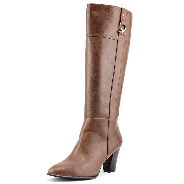 Alfani Courtnee Pointed Toe Leather Knee High Boot