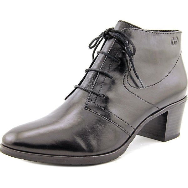 Gerry Weber Casey 02 Women Round Toe Leather Black Ankle Boot