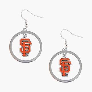 SAN Francisco Giants Hoop Logo Earring Set MLB Charm