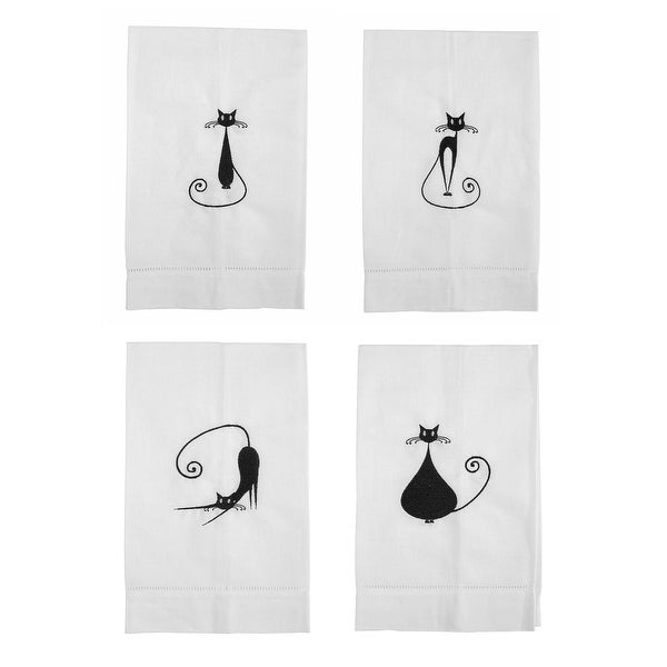 Superstitious Siamese Embroidered Linen Tea Towel or Sets
