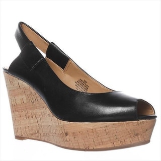 Nine West Cantalope Wedge Sandals - Black