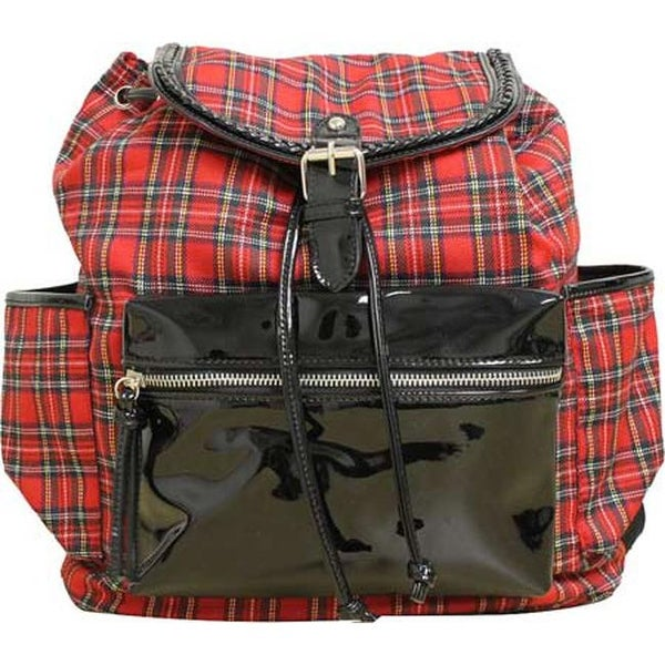 Gotta Flurt Women's Westwood Backpack Red Plaid - us women's one size (size none)