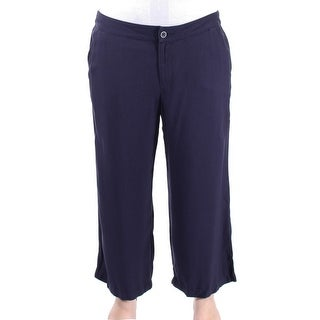Tommy Hilfiger NEW Solid Blue Navy Women's Size 6 Wide Leg Pants