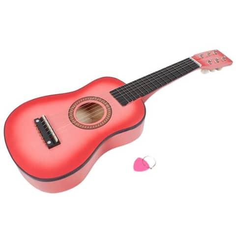 "23"" Acoustic Guitar Pick Strings Pink"