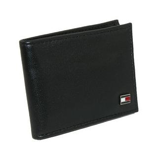 Tommy Hilfiger Men's Leather Slim Billfold Wallet - Black - One Size