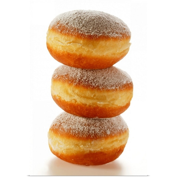 """""""Doughnuts with icing sugar, in a pile"""" Poster Print"""