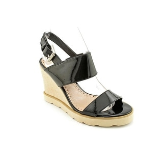 Charles By Charles David Santee Women Open Toe Synthetic Black Wedge Sandal