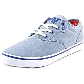 Globe Motley Men Round Toe Canvas Blue Skate Shoe