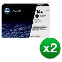 HP 14A Black High Yield Original LaserJet Toner Cartridge (CF214A)(2-Pack)