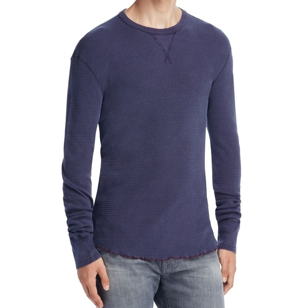 cb8b36302d5b Shop Champion NEW Navy Blue Mens Size Small S Crewneck Thermal Tee Shirt -  Free Shipping On Orders Over $45 - Overstock - 18349518
