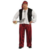 Pirate Costume Adult Plus - Black