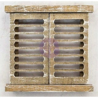 "Venetian Shutters 4""X4"" - Prima Frank Garcia Memory Hardware Embellishments"