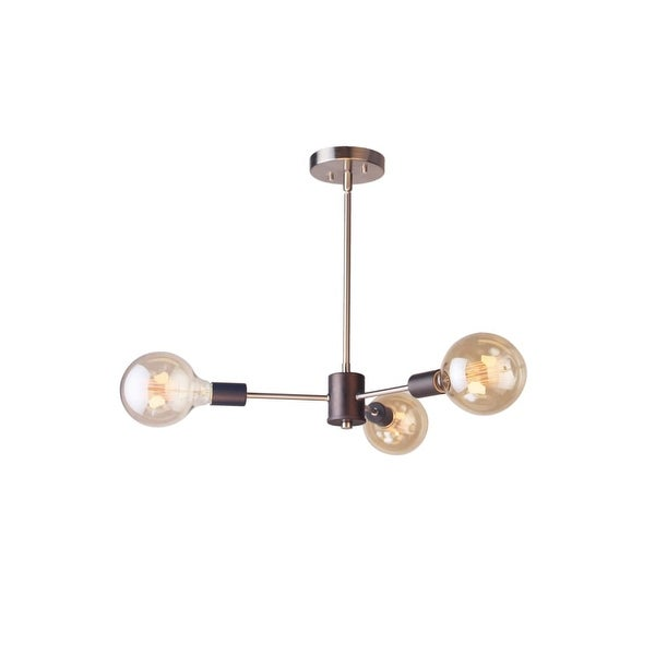 "Woodbridge Lighting 16113-G125 Ethan 26 1/2"" Wide 3 Light Sputnik Style Abstract Single Tier Chandelier with Vintage Bulbs - n/a"