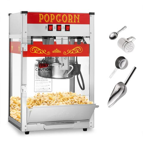 Commercial Popcorn Machine Maker Popper with Large 8-Ounce Kettle