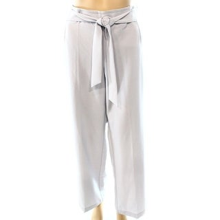 Alfani NEW Light Gray Women's Size 2 Tie Belted Wide Leg Dress Pants