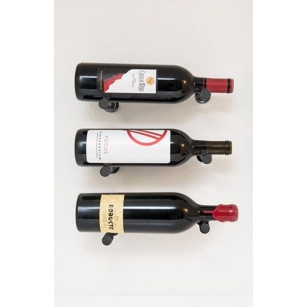Vintageview Vpc Design 3 Vino Series 3 Bottle Capacity Wall Mounted Label Forward Wine Rack With Collars