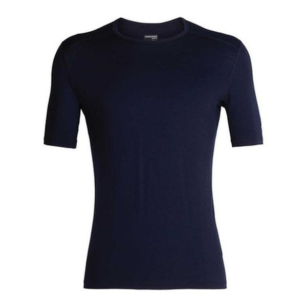 d7590e2eaf Shop Icebreaker Men's 200 Oasis Short Sleeve Crewe Baselayer Midnight Navy  - Free Shipping Today - Overstock - 25668044