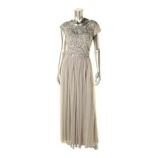 Aidan Mattox Womens Sequined Keyhole Evening Dress - 4