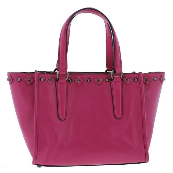 Womens Studded Medium Leather Shoulder Bag Handbags Totes Purse Ladies Satchel
