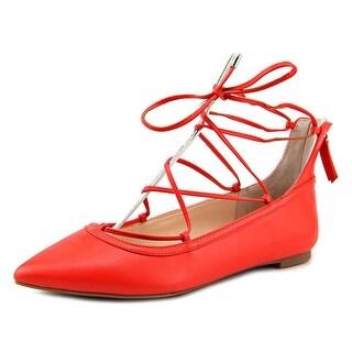 INC International Concepts Zadde Women Pointed Toe Synthetic Orange Flats