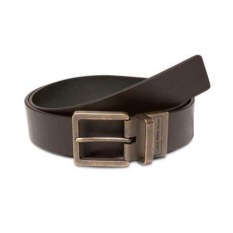 Calvin Klein Mens Brass Belt - 32