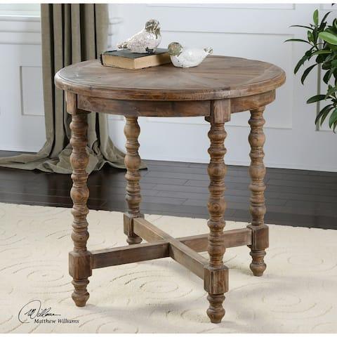 Uttermost Samuelle Reclaimed Wood End Table