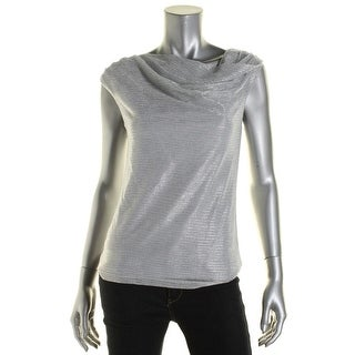 Laundry by Shelli Segal Womens Metallic Sleeveless Pullover Top