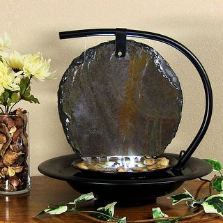 Water Wonders Zen Moonshadow Indoor Tabletop Fountain