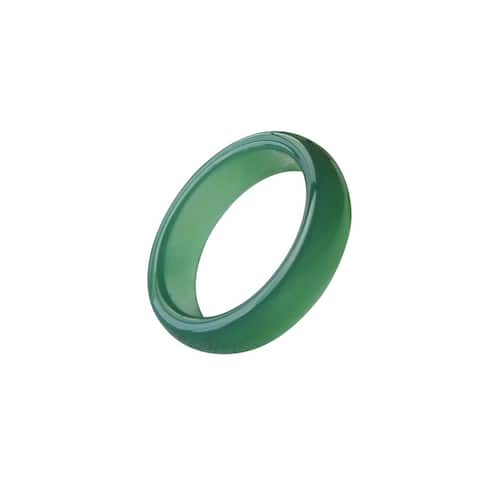 Solid Green Jade Band Ring - Size 6 -10, Various Band Widths