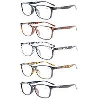 Eyekepper 5-Pack Quality Readers Crystal Clear Vision Reading Glasses +1.25