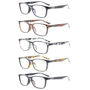 Eyekepper 5-Pack Quality Readers Crystal Clear Vision Reading Glasses +2.25