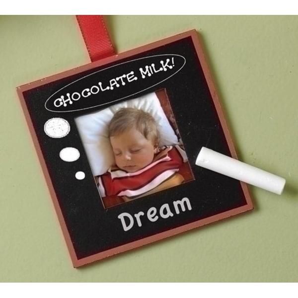 "2"" x 2"" Black Chalk Board Photo Picture Frame Christmas Ornament"