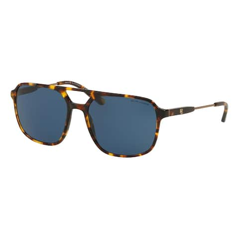 Ralph Lauren RL8170 513480 58 Shiny Antique Tortoise Man Square Sunglasses