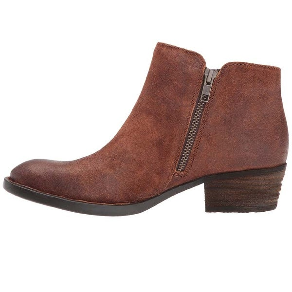 Born Womens Bowlen Leather Almond Toe Ankle Cowboy Boots