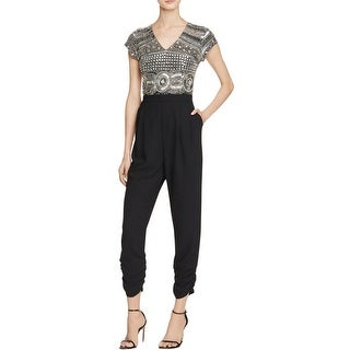 Parker Womens Romona Jumpsuit Beaded Short Sleeve - s