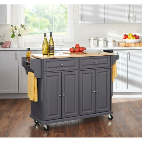 Simple Living Georgia Kitchen Cart